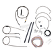 Midnight Stainless Handlebar Cable and Brake Line Kit for Use w/18 in. to 20 in. Ape Hangers (w/o ABS) - LA-8005KT2B-19M