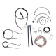 Midnight Stainless Handlebar Cable and Brake Line Kit for Use w/18 in. to 20 in. Ape Hangers - LA-8006KT2B-19M