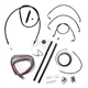 Midnight Stainless Handlebar Cable and Brake Line Kit for Use w/Mini Ape Hangers - LA-8010KT2-08M
