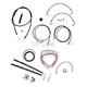 Midnight Stainless Handlebar Cable and Brake Line Kit for Use w/15 in. to 17 in. Ape Hangers - LA-8050KT2-16M