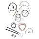 Midnight Stainless Handlebar Cable and Brake Line Kit for Use w/15 in. to 17 in. Ape Hangers - LA-8051KT2-16M