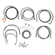 Midnight Stainless Handlebar Cable and Brake Line Kit for Use w/15 in. to 17 in. Ape Hangers - LA-8052KT2-16M