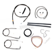Midnight Stainless Handlebar Cable and Brake Line Kit for Use w/Mini Ape Hangers - LA-8100KT2-08M