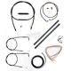 Midnight Stainless Handlebar Cable and Brake Line Kit for Use w/18 in. to 20 in. Ape Hangers - LA-8130KT2-19M
