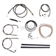Midnight Stainless Handlebar Cable and Brake Line Kit for Use w/18 in. to 20 in. Ape Hangers - LA-8140KT2-19M