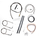 Midnight Stainless Handlebar Cable and Brake Line Kit for Use w/15 in. to 17 in. Ape Hangers - LA-8210KT2A-16M