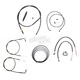 Midnight Stainless Handlebar Cable and Brake Line Kit for Use w/12 in. to 14 in. Ape Hangers - LA-8220KT2-13M