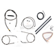 Midnight Stainless Handlebar Cable and Brake Line Kit for Use w/Mini Ape Hangers - LA-8300KT2-08M