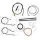 Midnight Stainless Handlebar Cable and Brake Line Kit for Use w/Mini Ape Hangers - LA-8310KT2-08M