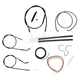 Midnight Stainless Handlebar Cable and Brake Line Kit for Use w/Cafe Ape Hangers - LA-8310KT2-0CM