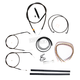 Midnight Stainless Handlebar Cable and Brake Line Kit for Use w/Mini Ape Hangers - LA-8320KT2A-08M
