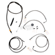 Midnight Stainless Handlebar Cable and Brake Line Kit for Use w/Mini Ape Hangers w/ABS - LA-8050KT-08M