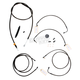Midnight Stainless Handlebar Cable and Brake Line Kit for Use w/18 in. - 20 in. Ape Hangers w/ABS - LA-8050KT-19M