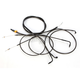 Midnight Stainless Handlebar Cable and Brake Line Kit for Use w/15 in. to 17 in. Ape Hangers - LA-8110KT-16M