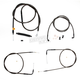 Midnight Stainless Handlebar Cable and Brake Line Kit for Use w/18 in. to 20 in. Ape Hangers - LA-8140KT-19M