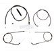 Midnight Stainless Handlebar Cable and Brake Line Kit for Use w/Mini Ape Hangers - LA-8310KT-08M