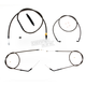 Midnight Stainless Handlebar Cable and Brake Line Kit for Use w/12 in. to 14  in. Ape Hanger - LA-8310KT-13M