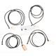 Midnight Stainless Handlebar Cable and Brake Line Kit for Use w/Mini Ape Hangers w/ABS - LA-8052KT-08M