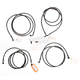 Midnight Stainless Handlebar Cable and Brake Line Kit for Use w/15 in. - 17 in. Ape Hangers w/ABS - LA-8052KT-16M