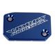 Blue Anodized Billet Aluminum Front Brake Reservoir Cover - 21-060
