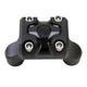 Black Ops Cut Moto Mega Risers for 1 in. Handlebars - 0208-2111-SMB