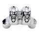 Chrome Nostalgia Mega Risers for 1 in. Handlebars - 0208-2113-CH