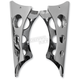 Chrome Timeless Holes Clamp On Gussets for 1 in. Handlebars - LA-7610-00