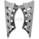 Chrome Oval Slots Clamp On Gussets for 1 in. Handlebars - LA-7610-02