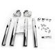 Chrome 8 in. Klip Splitter Handlebars - 0601-3259