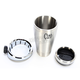 Cup Holder w/Chrome 7/8 - 1 in.Bar Mount - 50512