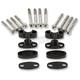 Black Anodized Handlebar Riser Kit for 7/8