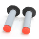 Gray/Red Tri-Density Half Waffle Grips - 02-4860