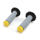 Gray/Yellow Tri-Density Half Waffle Grips - 02-4862