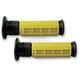 Yellow/Black V.9 Half Waffle ATV Grips - ATVW10