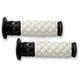 White/Black V.7 Diamond ATV Grips - ATVD13