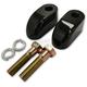 Gloss Handlebar 1 in. Handlebar Riser Extensions - LA-7416-01B