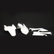 White Replacement Plastic Kit - 2253030002