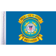 10 in. x 15 in. U.S. Coast Guard Retired Motorcycle Flag - FLG-RTCGD15