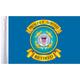 10 in. x 15 in. U.S. Coast Guard Retired Motorcycle Flag - FLG-RTCGD15