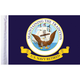 10 in. x 15 in. U.S. Navy Retired Motorcycle Flag - FLG-RTNAV15