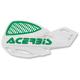 White/Green Vented Uniko Handguards - 2072671050
