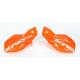 Orange/White Logo Uniko Handguards - 2041781362