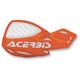 Orange/White 16 Logo Vented Uniko Handguards - 2072675321