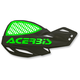 Black/Green Logo Vented Uniko Handguards - 2072671043