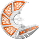 White/Orange X-Brake 2.0 Vented Front Disc Cover - 2449495412