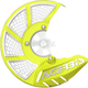 Fluorescent Yellow/White X-Brake 2.0 Vented Front Disc Cover - 2449494310