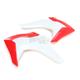 OEM Red/White Radiator Covers - HO04675-999