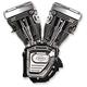 T-Series Long Block Black Engine - 310-0282