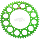 Green Kawasaki Rear 47 tooth Aluminum Sprocket - 408U-420-47GEGN