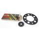 Gold Suzuki GB520GXW Acceleration Chain with Steel Sprocket - 3076-069PG